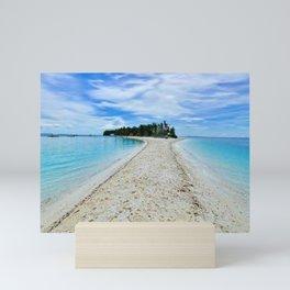 Small Island With White Sand Mini Art Print