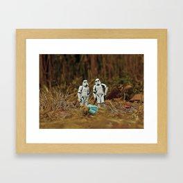 stormtroopers/bear Framed Art Print