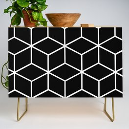 Black and White - Geometric Cube Design II Credenza