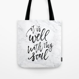 247c131fe6e1 Well With My Soul - Marble Tote Bag