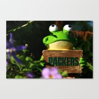 packers Canvas Prints featuring packers by Dakota Girl Photography