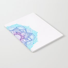 blue and purple mandala Notebook