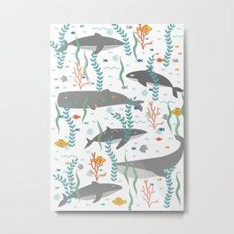 Whales of the Sea Metal Print