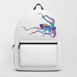 Colorful Purple Octopus Art Watercolor Gift Ocean Life Art Backpack