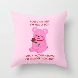 A Valentines Poem Throw Pillow