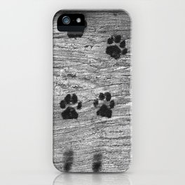 The cat was here iPhone Case