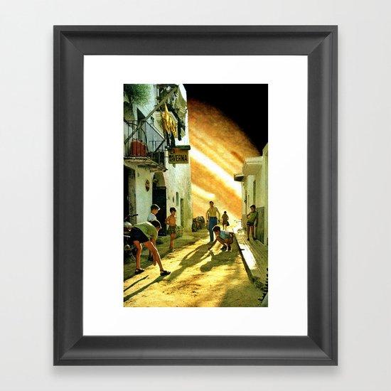 La taverna... Framed Art Print