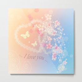 ... i love you ... Metal Print