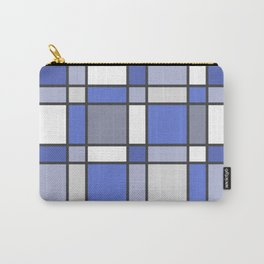 Blue Hue Checkers Carry-All Pouch