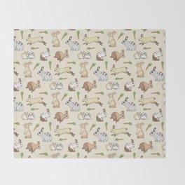 Rabbits Throw Blanket