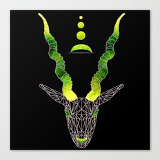 Moonset Antlers Canvas Print