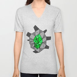 shikigami sculptural template 1 (Lush green) Unisex V-Neck