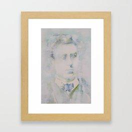 LAUTREAMONT - watercolor portrait Framed Art Print