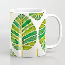 Elephant Ear Alocasia – Green Palette Coffee Mug