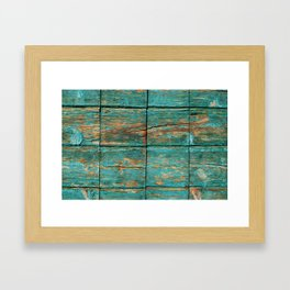 Rustic Teal Boards (Color) Framed Art Print