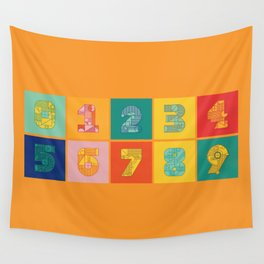 Number Grid Wall Tapestry