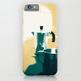morning coffee iPhone Case