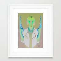 boba Framed Art Prints featuring Boba by Yewot