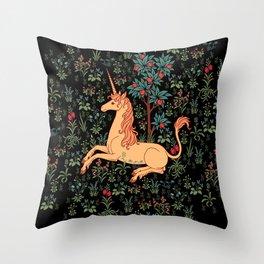 Unicorn Garden Throw Pillow