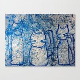 Cosmic cats Canvas Print