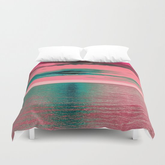 Sunset at Sea Duvet Cover