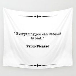 Pablo Picasso Quote Wall Tapestry