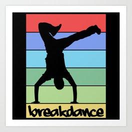 Retro Breakdance Art Print
