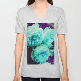 Light blue Rose Kathryn Unisex V-Neck