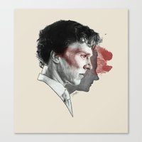 johnlock Canvas Prints featuring Johnlock by Cécile Pellerin