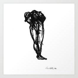 Boceto gestual 10 Art Print