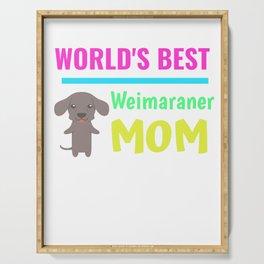 World's Best Weimaraner Mom Serving Tray