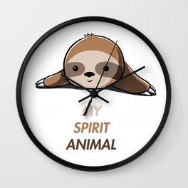 My animal spirit - Sloth Wall Clock