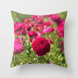 Flower Field Fantasy by Reay of Light Photography Throw Pillow
