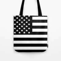 flag Tote Bags featuring Flag by Stephanie Janeczek
