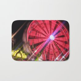 Spinning Your Wheels the ferris wheel carnival ride Bath Mat