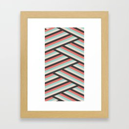 Abstract With Beige Framed Art Print