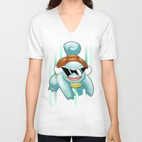 squirtle V-neck T-shirts featuring Squirtle Squad by Patrick Towers