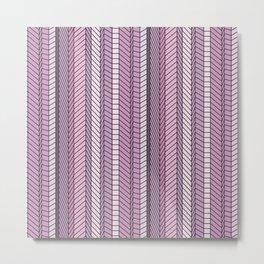 Purple Optical Illustion Metal Print