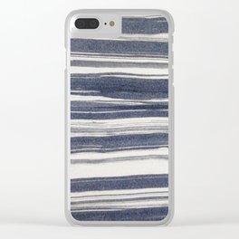 Brush stroke stripes Clear iPhone Case