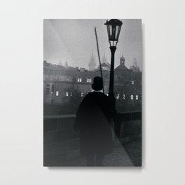 Prague Lantern Lighter Metal Print