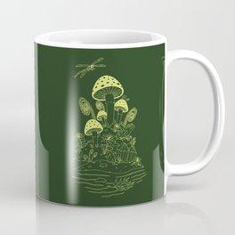 Mushroom, Frogs and Crystals with Dragofly Coffee Mug