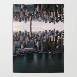 New York City Upside Down Poster