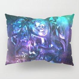 vaporwave skull Pillow Sham