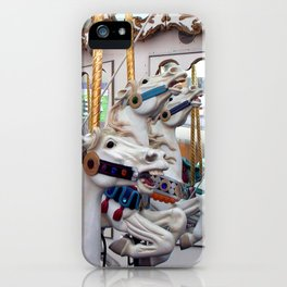 Carousel horses 01 iPhone Case