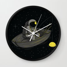 Lonely fishing Wall Clock