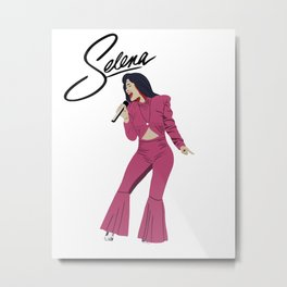 Selena Quintanilla Illustration Metal Print