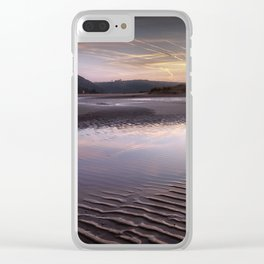 The river at Three Cliffs Bay Clear iPhone Case