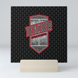 Teacher Shield Mini Art Print