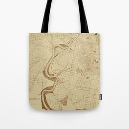 Map of Philadelphia 1892 Tote Bag