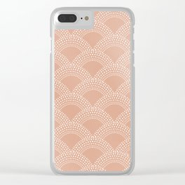 Elegant blush pink mermaid fish scale pattern Clear iPhone Case